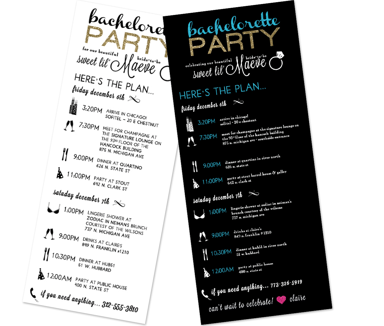 Bachelorette Party | Invitation Design