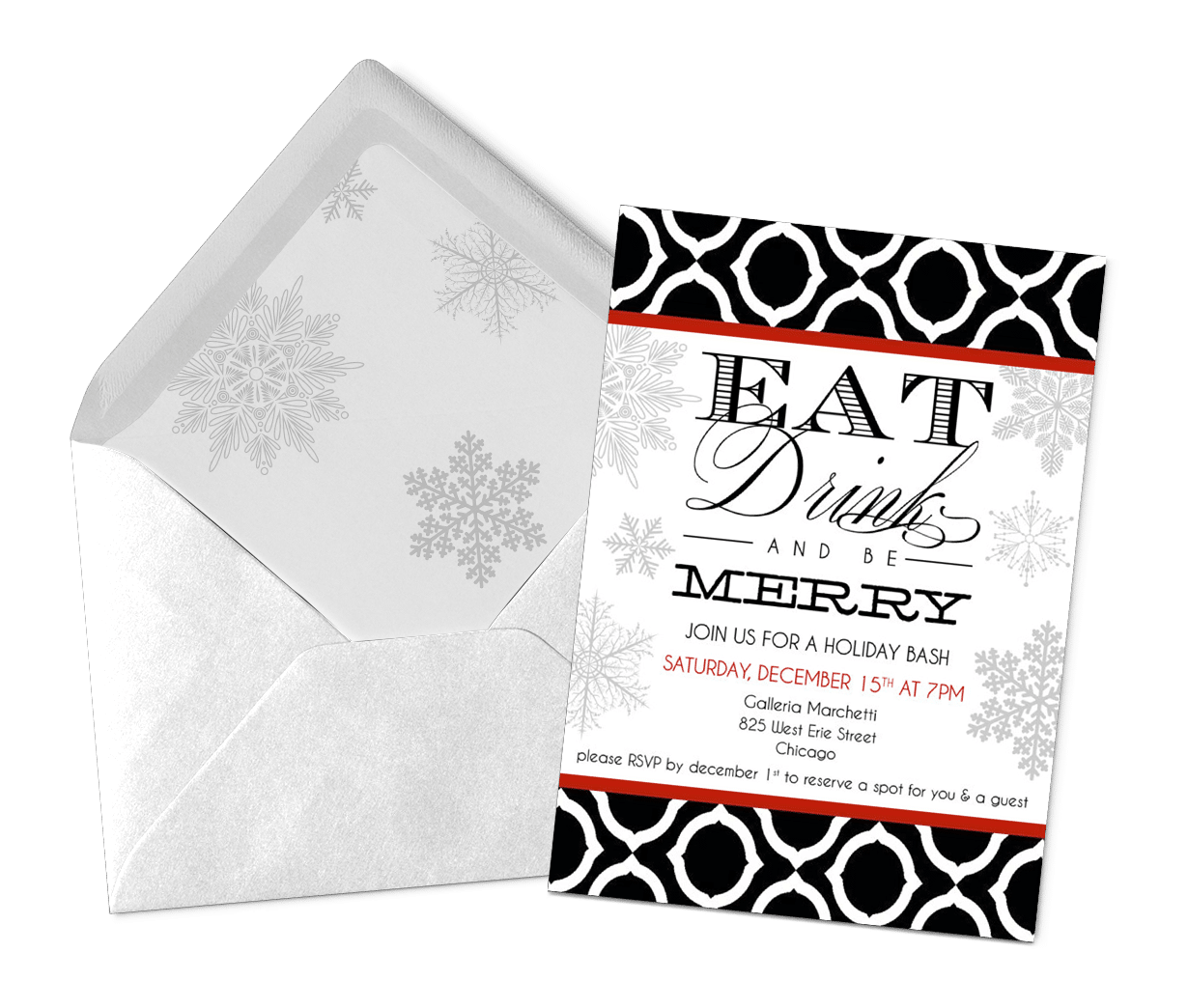 Holiday party invitation emblematic creative brand design holiday party invitation stopboris Image collections