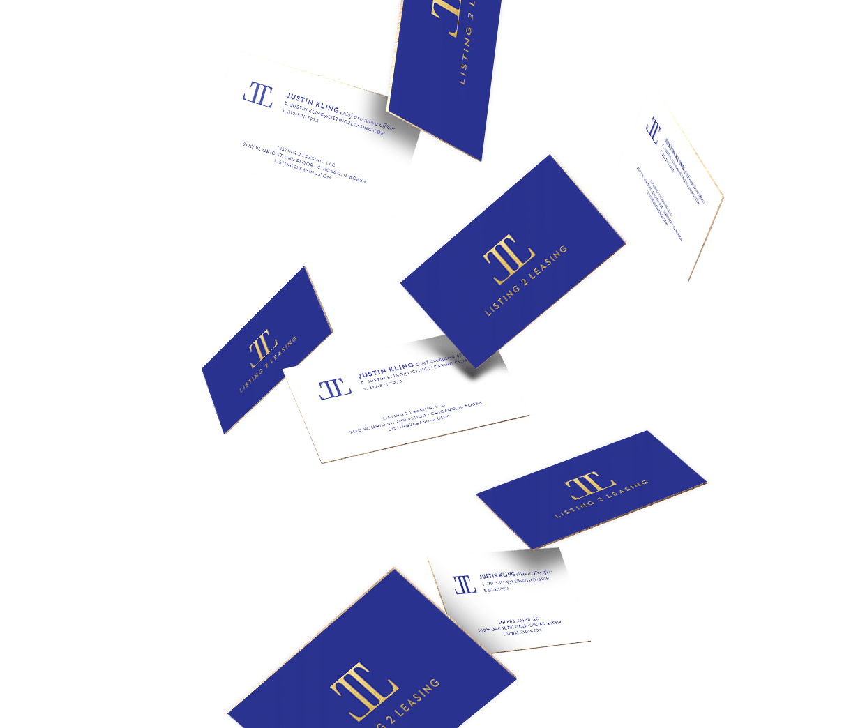 Listing 2 Leasing Business Cards