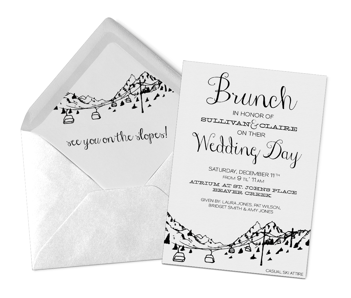 Wedding Day Brunch Invitations