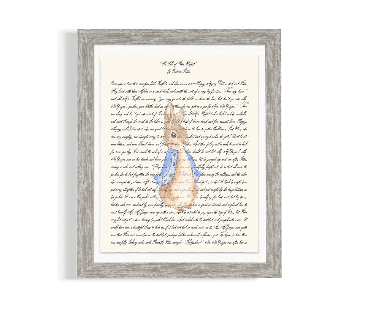 Peter Rabbit Nursery Artwork