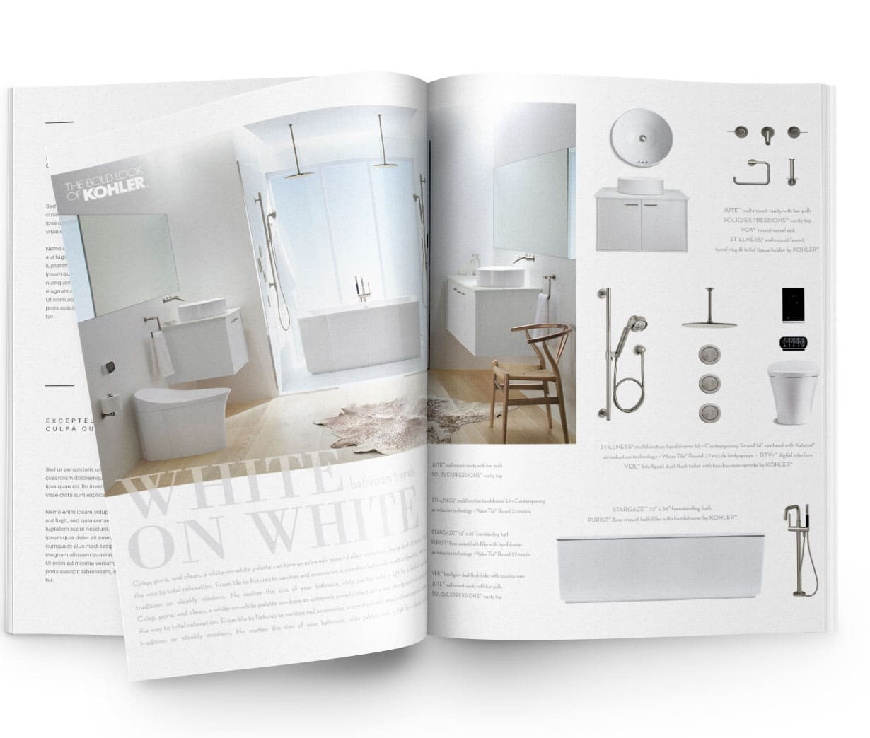 White on White | Print Ad Design